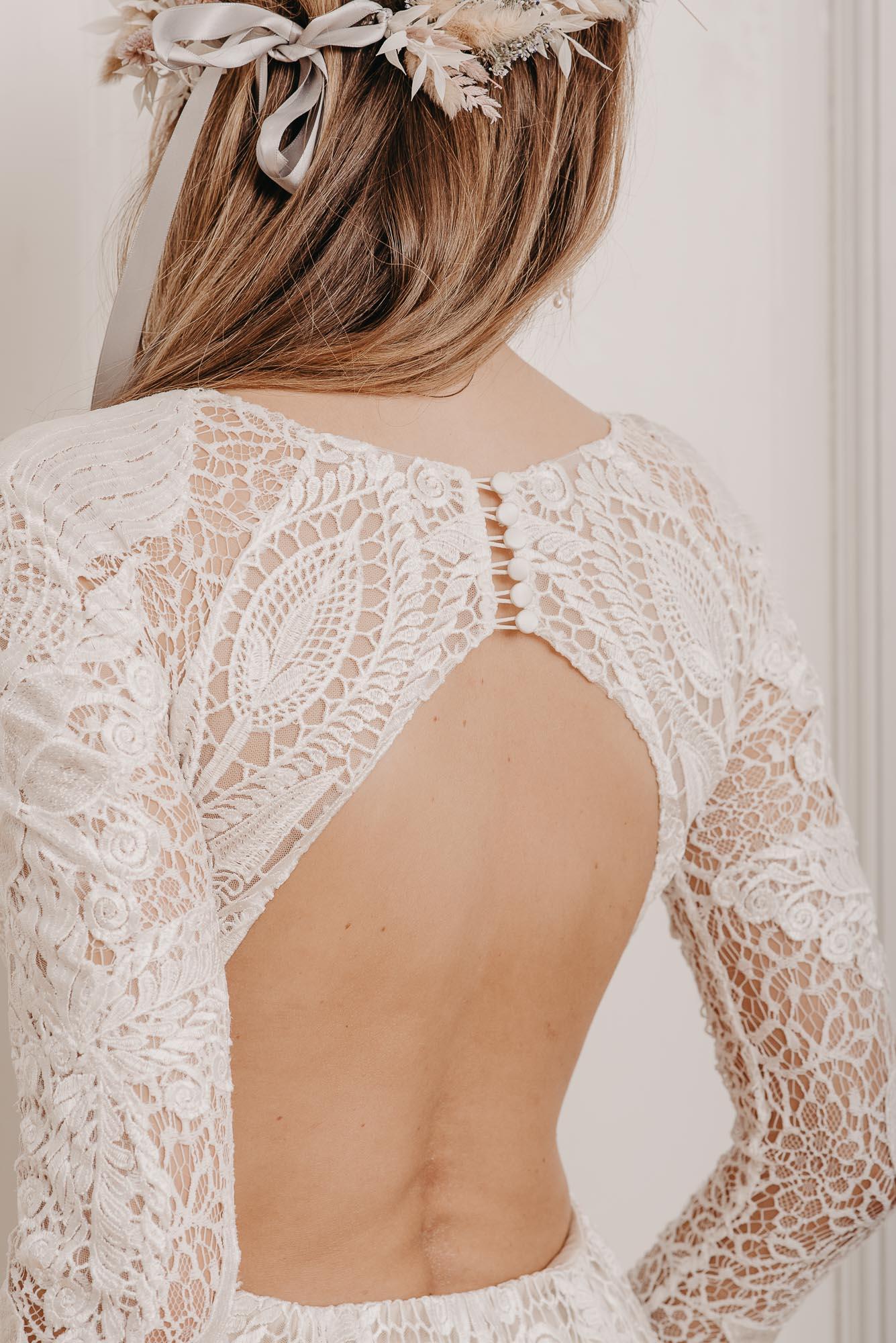 Laurel Brautkleid Rückenausschnitt - Brautmode von Oonce