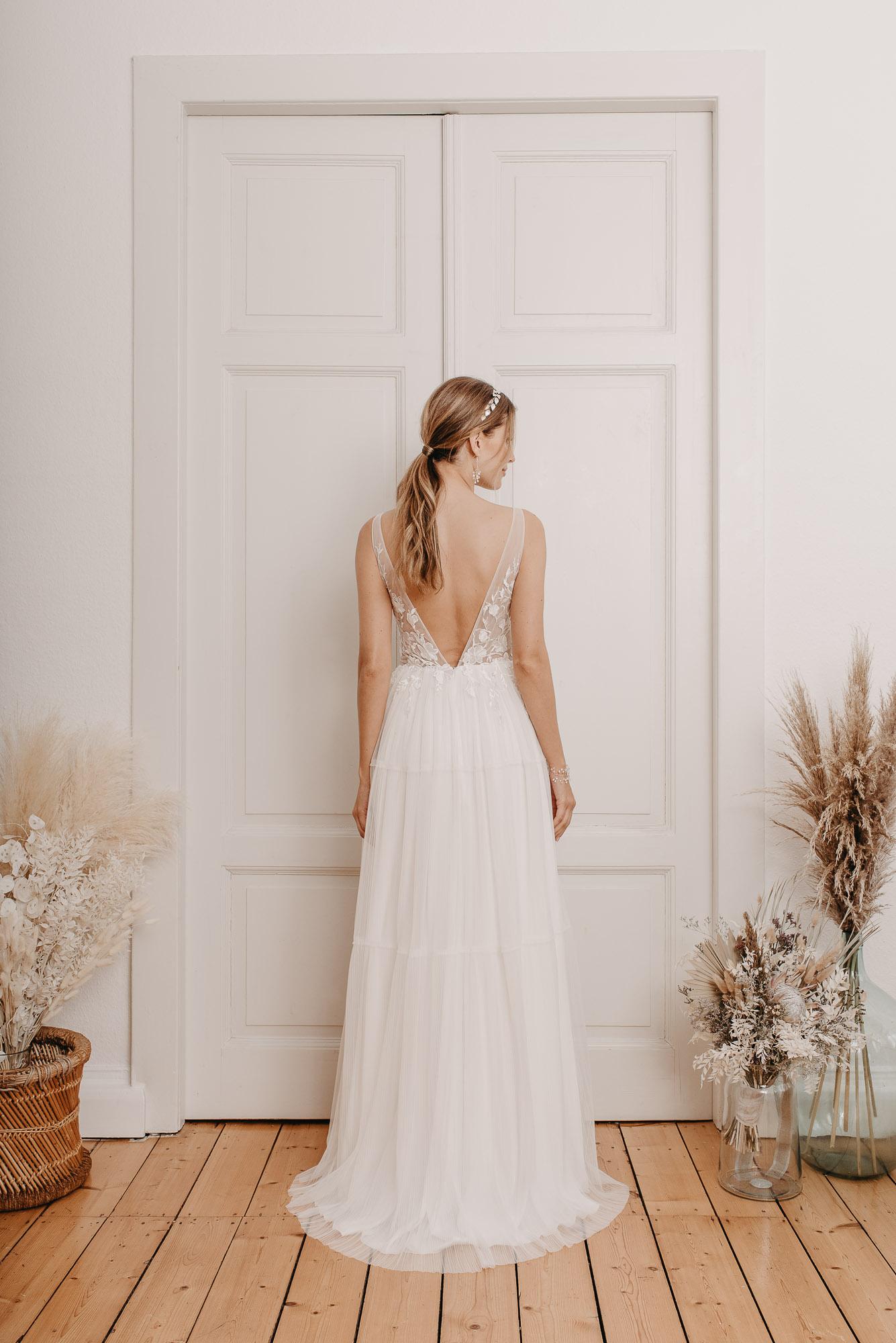 Ginkgo Brautkleid Hinten - Brautmode von Oonce
