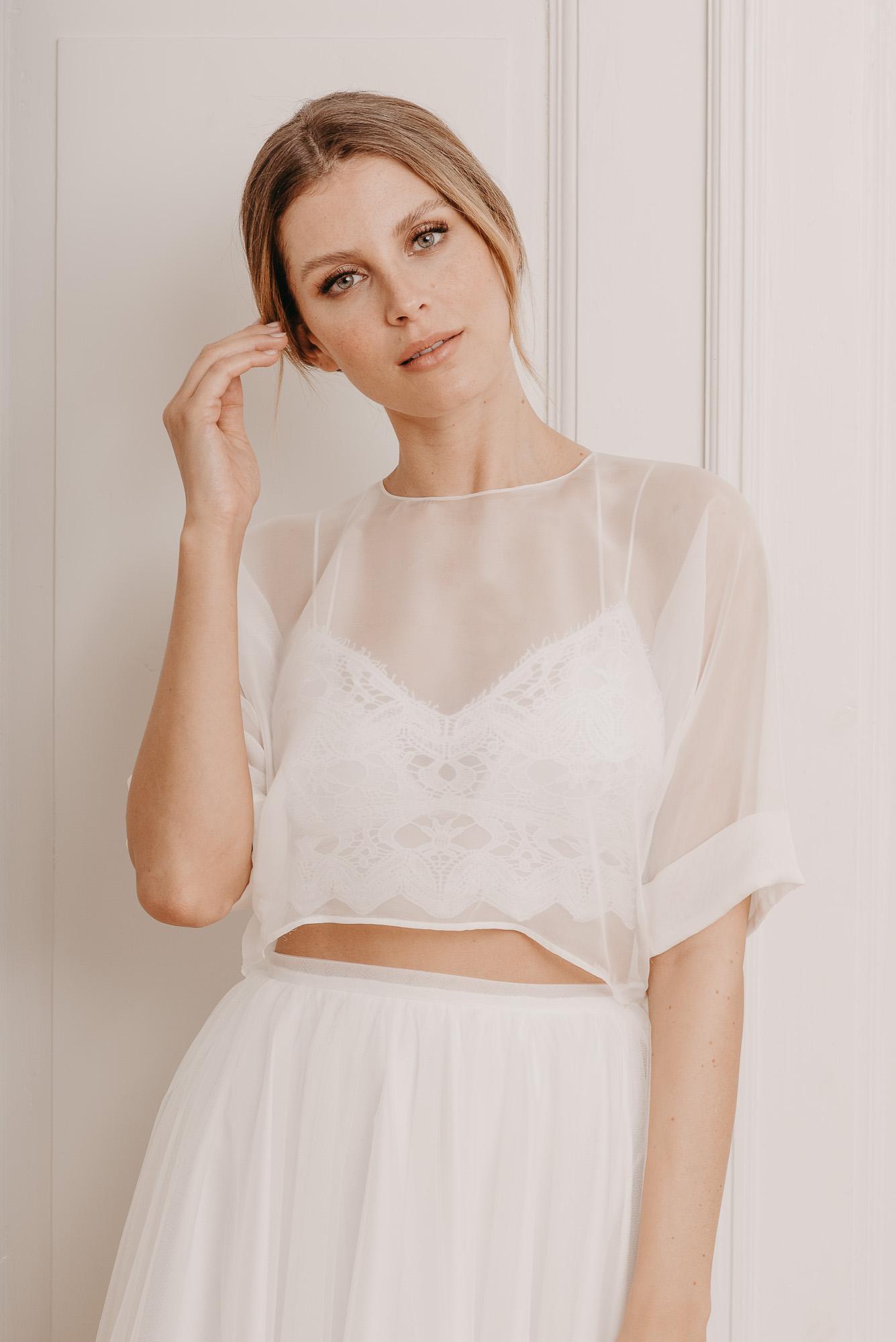 Soft Ash Seidenshirt - Mix & Match Brautmode von Oonce