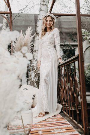 Aloe Brautkleid Vorne - Brautmode von Oonce