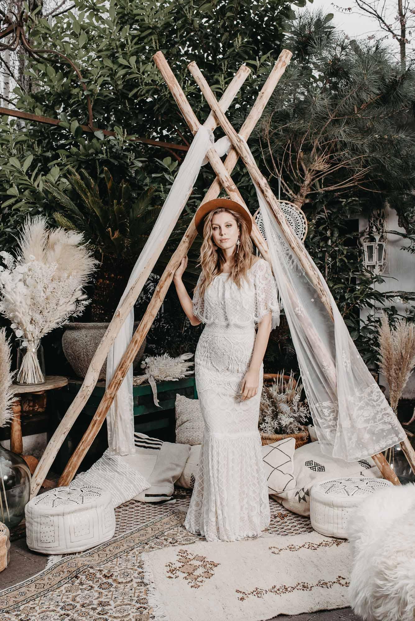 Ginger Brautkleid Vorne - Brautmode von Oonce