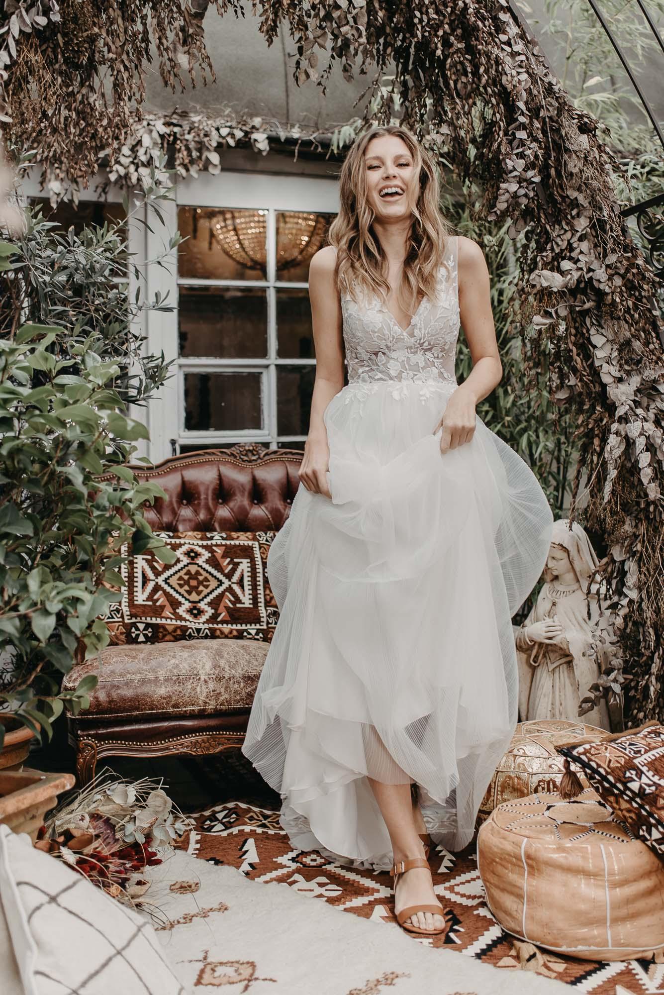 Ginkgo Brautkleid Vorne - Brautmode von Oonce