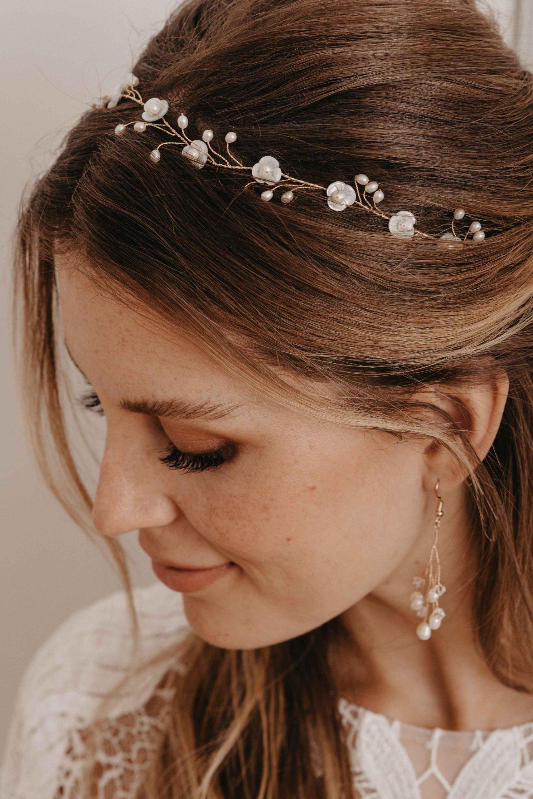 Blossom Haarband gold - Brautschmuck von Oonce