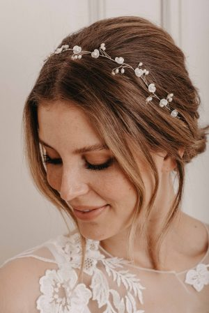 Blossom Haarband silber - Brautschmuck von Oonce