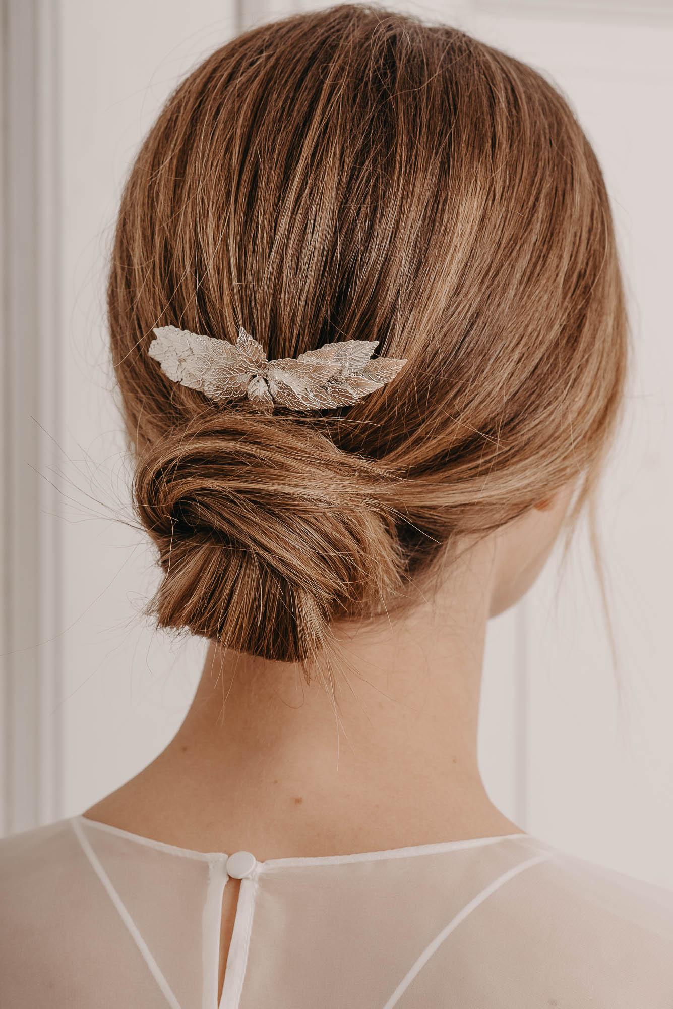 Big Meadow Haarkamm silber - Brautschmuck von Oonce