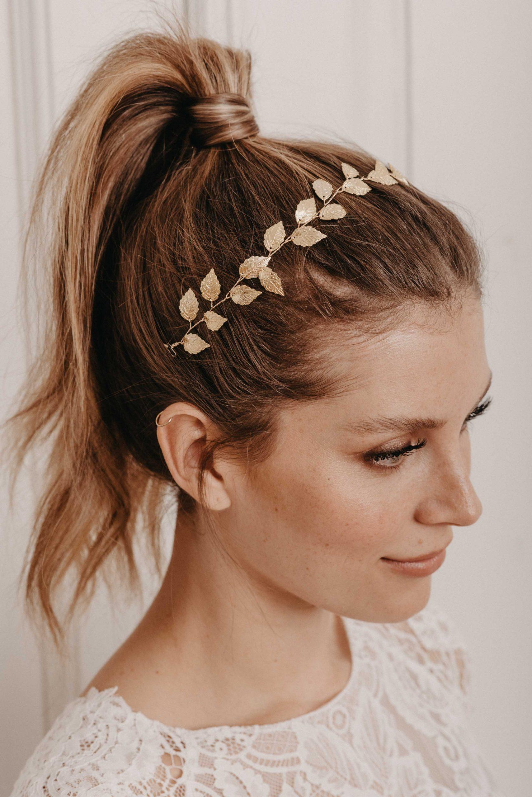Leaves Haarband gold - Brautschmuck von Oonce