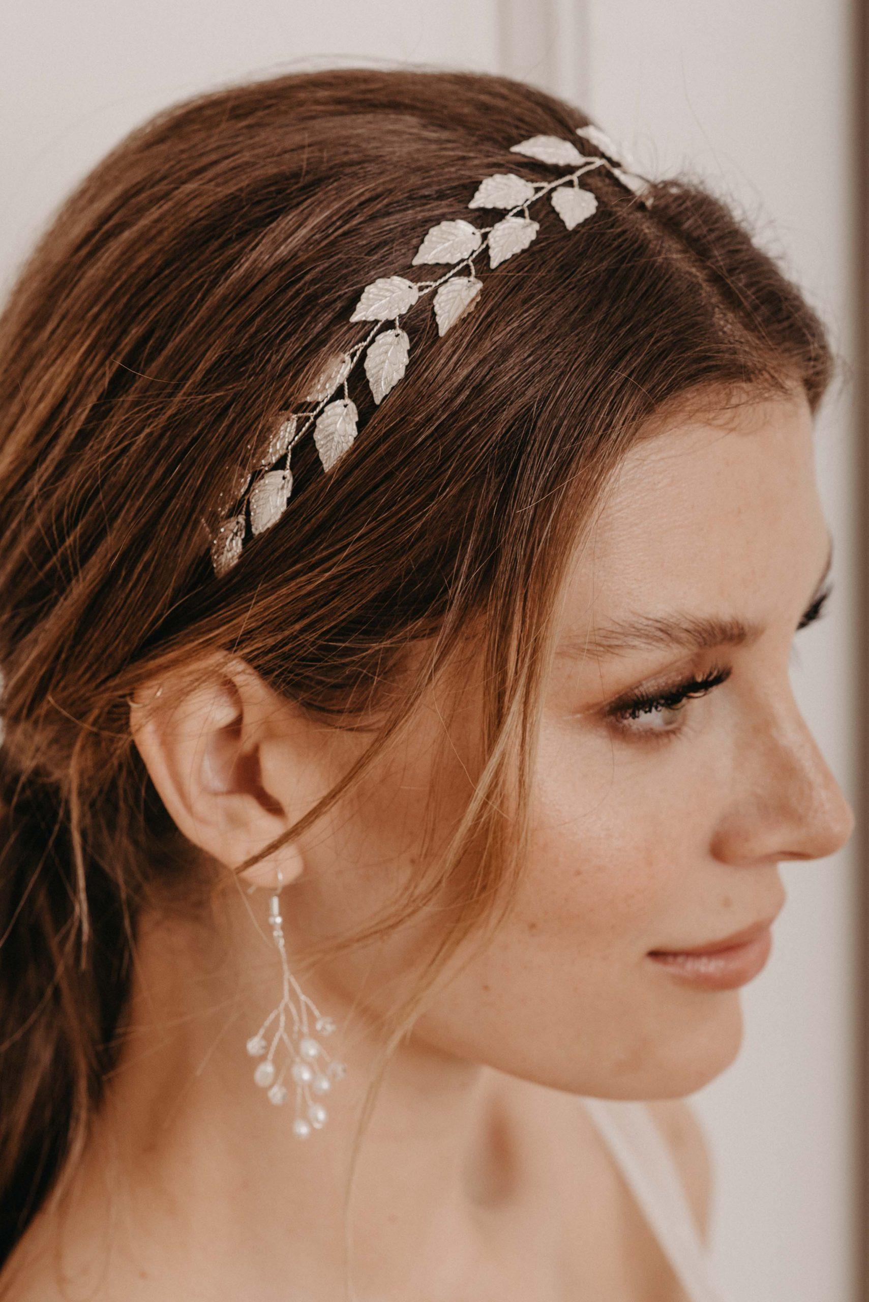 Leaves Haarband silber - Brautschmuck von Oonce