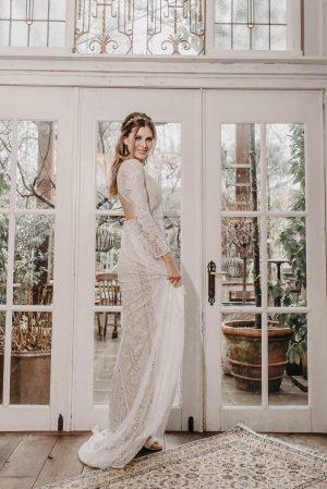 Rose Brautkleid Seite von Oonce
